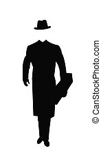 man carying flowers in silhouette