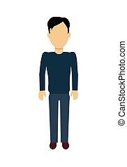 Man Character Template Vector Illustration.