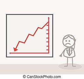 Man Chart Down