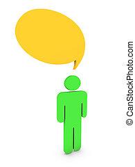 man chatting