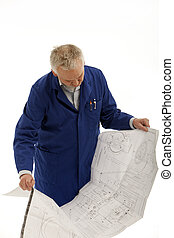 man Checking Documents in hand