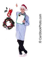 Man Christmas doctor medical