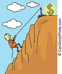 Man climbing for success