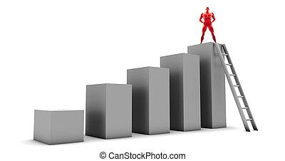 Man Climbing Up Ladder