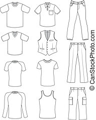 Man clothes summer collection
