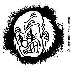 Man clown cartoon