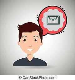 man communication envelope bubble