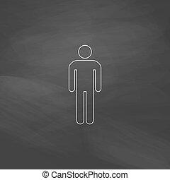 Man computer symbol