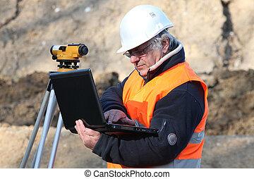 Man conducting a survey