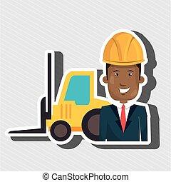man construction tool work