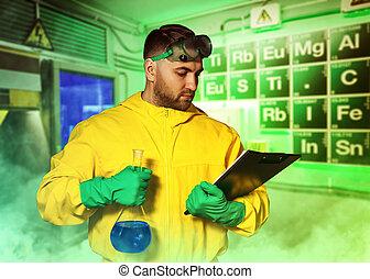 Man cooking meth