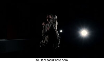 Man dancing on stage