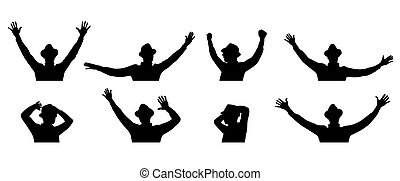 man dancing silhouettes vector