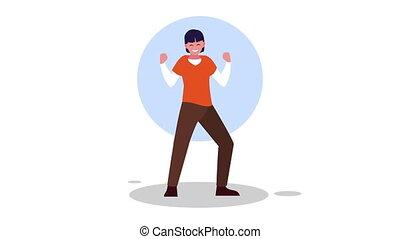 man dancingn avatar character animation
