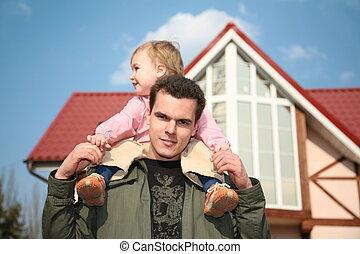 man daughter house