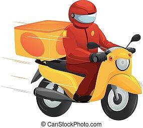 Man Delivering Fast Food