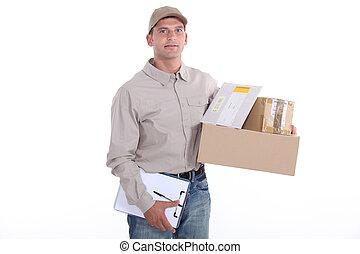 Man delivering post