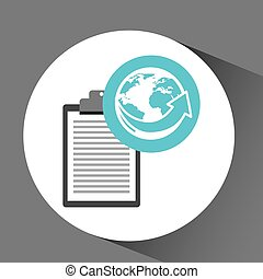 man delivery checking worldwide service vector illustration...