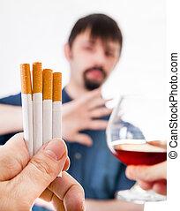 Man deny a Cigarettes