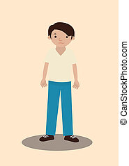 man design over pink  background vector illustration