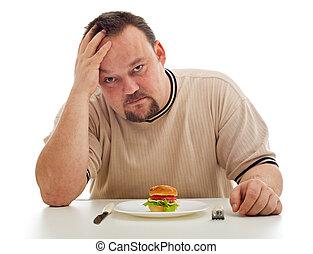 Man desperate for not having enough to eat