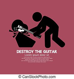 Man Destroy The Guitar.