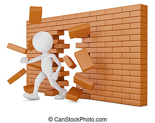 3d Man Building Brick Wall Illustrations And Stock Art 138