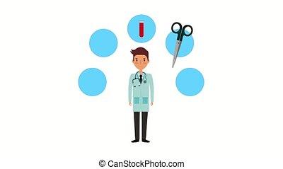 man doctor professional medical supplies health ilustration