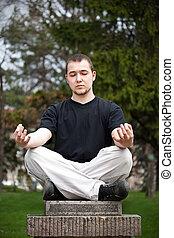man, doen, yoga