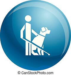 Man dog guide icon, simple style
