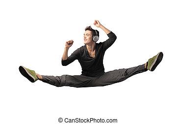 Man doing a split