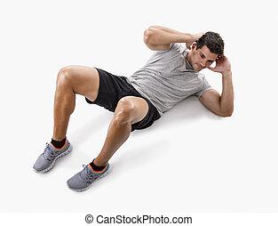 Man doing abdominals