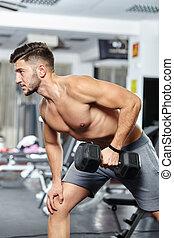 Man doing back workout