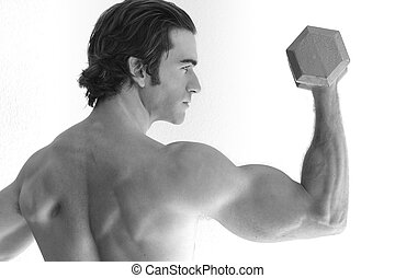 Man doing bicep curl
