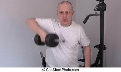 Man doing exercise for shoulders