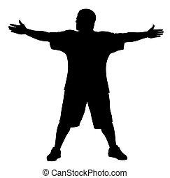 Man doing exercises