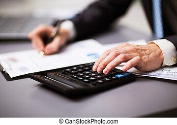 Man doing his accounting