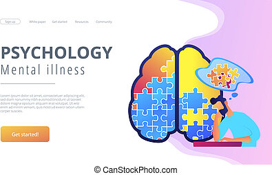 Psychology and mental illness landing page.