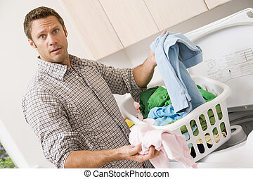 Man Doing Laundry