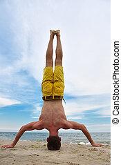 Yoga practice.