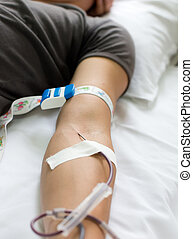 Man donating blood