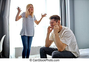 man don't want listen to screaming wife