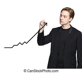 Man drawing a graph