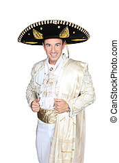 Man dress in bullfighter costume
