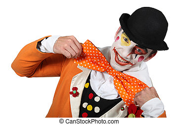 Man dressed as a clown