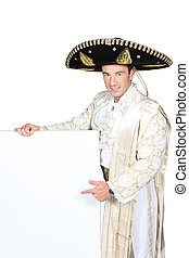 Man dressed as a Mexican