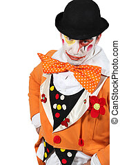 man dressed as clown