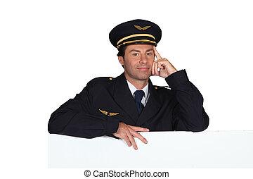 Man dressed in pilot costume