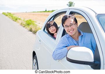 man drive car in Furano