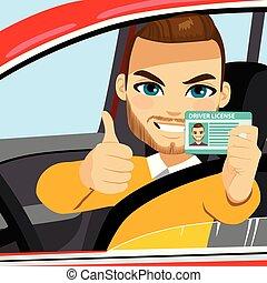 Man Driver License